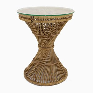 Round Rattan Side Table