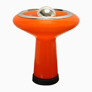 Italienische Tischlampe mit Buntglas, 1960er