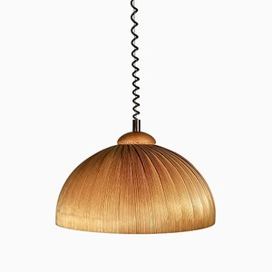 Teak Slat Pendant Lamp in the Style of Hans-Agne Jacobsen, 1960s