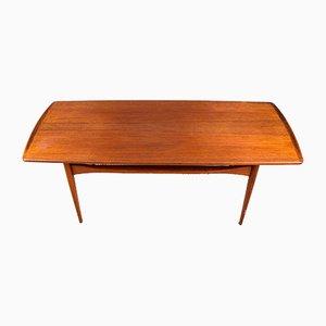 Grande Table Basse en Teck par Tove & Edvard Kindt-Larsen pour France & Søn / France & Daverkosen, Danemark, 1960s