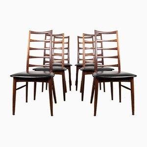 Model Liz Rosewood Side Chairs by Niels Koefoed for Koefoeds Møbelfabrik, 1960s, Set of 6