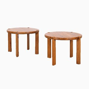 Pine Side Tables by Rainer Daumiller, 1970s, Set of 2