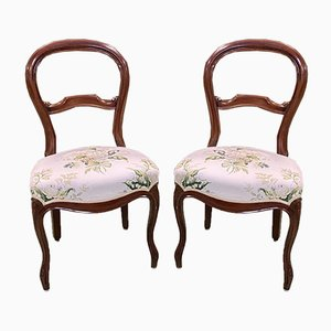 Late-19th Century Napoleon III Mahogany Side Chairs, Set of 2