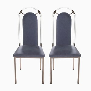 Plexiglass Side Chairs from Maison Jansen, 1970s, Set of 2