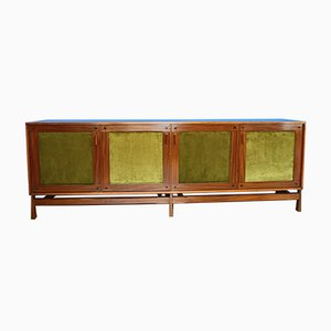Teak Sideboard with 4 Doors from Saima, 1950s