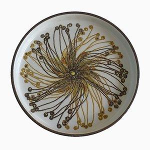 Runde Dänische Baca Schale aus Fayence Keramik von Ellen Malmer für Royal Copenhagen, 1960er