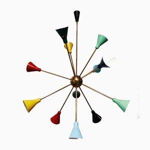 Mid-Century Sputnik Ceiling Lamp from Stilnovo