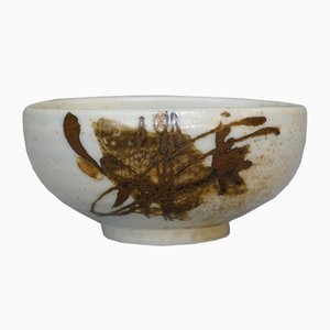 Danish Faience Ceramic Diana Bowl with Koi Fish by Nils Thorsson for Royal Copenhagen, 1960s