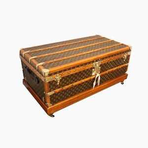 Stenciled Monogram Cabin Steamer Trunk from Louis Vuitton, 1930s