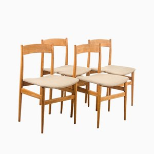 Danish Beechwood Dining Chairs, 1960s, Set of 4