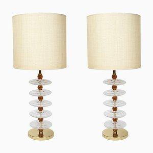 Lampes de Bureau en Verre Murano Style Gino Cenedese, 1980s, Set de 2