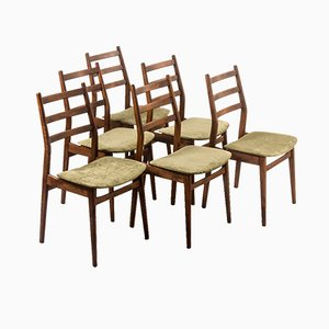 Danish Walnut Dining Chairs, 1960s, Set of 6