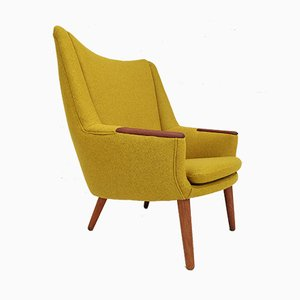Danish Wool Model 58 Armchair by Kurt Østervig for Rolschau Møbler, 1960s