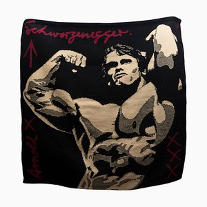 Arnold Schwarzenegger Tapisserie aus Wolle, 1990er