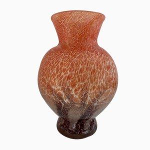Art Deco Ikora Vase mit Glasfuß von Karl Wiedmann für WMF, 1930er