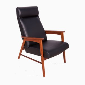 Mid-Century Leather Danish Armchair, 1960s