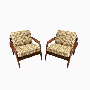 Scandinavian Teak Armchairs, 1950s, Set of 2