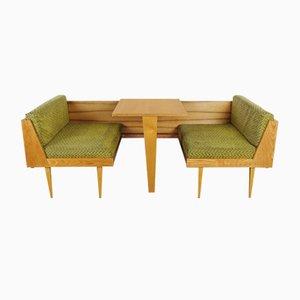 Dormeuse pieghevole con tavolino, anni '60