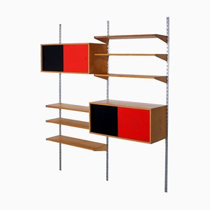 Colored Wall Unit by Kai Kristiansen for FM Møbler, 1960s, Set of 11