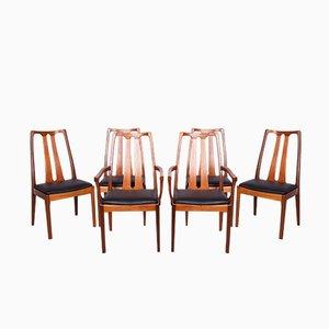 Mid-Century Esszimmerstühle von Nathan, 1960er, 6er Set