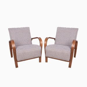 Beech Armchairs by Karel Kozelka & Antonin Kropacek, 1940s, Set of 2