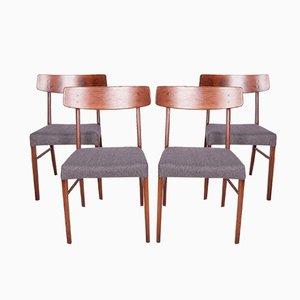 Dänische Mid-Century Esszimmerstühle, 1960er, 4er Set