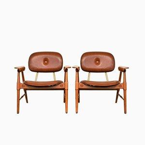 Lounge Chairs by Marco Zanuso for Poltronova, 1950s, Set of 2