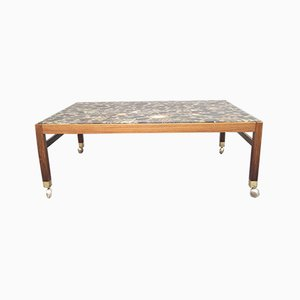 Mid-Century Swedish Rosewood and Pebbles Coffee Table, 1960s