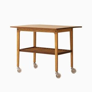 Mid-Century Danish Teak Coffee Table with Wheels, 1960s