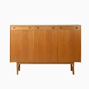 Mid-Century Scandinavian Style Highboard with 3 Drawers, 1950s