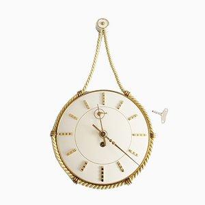 Orologio meccanico Mid-Century di Heinrich Möller per Kienzle