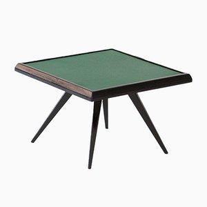Italian Green Leather Coffee Table, 1950s
