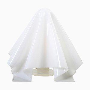 Weiße Acryl & Lucite Oba Q Tischlampe von Shiro Kuramata für Yamagiwa USA Corporation, 1970er