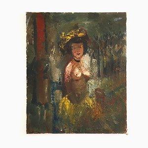 Sitzender Akt von Fernand Labat, Öl auf Leinwand