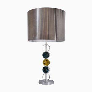Lampada da tavolo in alluminio, acciaio e vetro di Nancy Still per Raak, 1972