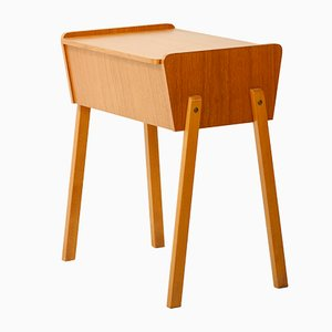 Mid-Century Danish Teak Bedside or Sewing Table, 1950s