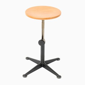 Mid-Century Modern Industrial Swivel Stool by Friso Kramer for Ahrend de Cirkel