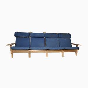GE375 Stühle von Hans J. Wegner für Getama, 1970er, 4er Set
