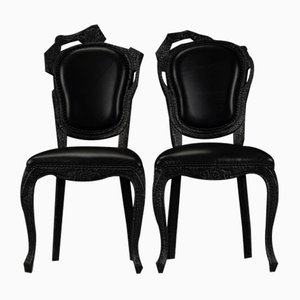 Smoke Dining Chairs by Maarten Baas for Moooi, Set of 2