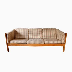 Series H680/H690 Sofa in Oak with Wool Cushions by Bernt Petersen for Schiang, 1960s