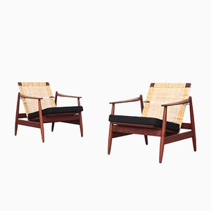 Mid-Century Danish Teak Lounge Chairs by Hans Olsen for Frem Røjle, 1960s, Set of 2