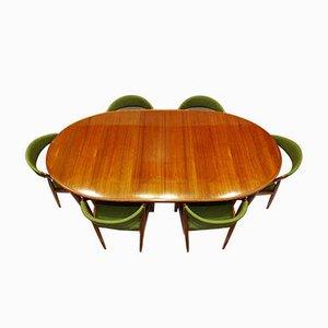 Teak Model 31 Dining Table & Chairs Set by Kai Kristiansen for Skovmand & Andersen, 1960s, Set of 7