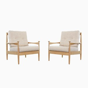 Mid-Century Scandinavian Beechwood Lounge Chairs, Set of 2
