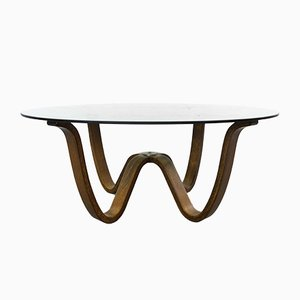 Vintage Bentwood Coffee Table by Georg Thams for Vejen Polstermøbelfabrik