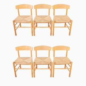 Mid-Century J39 Dining Chairs by Børge Mogensen for FDB, Denmark, Set of 6