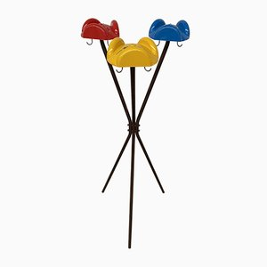 Italian Multi-Colored Tricorno Coat Stand by Enzo Mari for Danese, 1970s