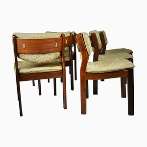 Mid-Century Modern Scandinavian Teak Dining Chairs, 1960s, Set of 6