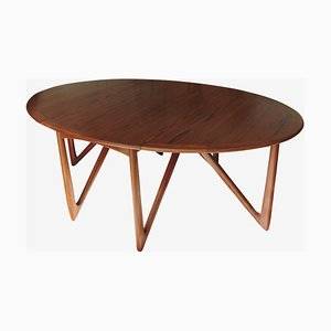 Mid-Century Danish Teak Gateleg Drop-Leaf Dining Table by Niels Kofoed for Koefoed Møbelfabrik, 1960s