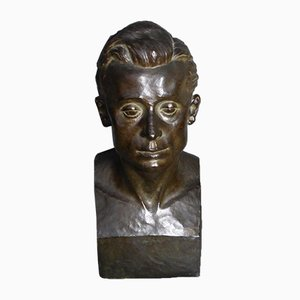 Vintage Bronze Sculpture by Grethe Gyde Petersen