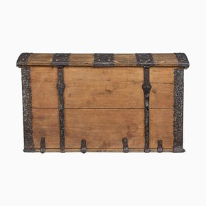 Mid-18th Century Oak and Iron Dome Top Trunk